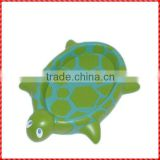 Funny custom resin green turtle shape silicon soap dish
