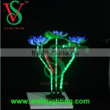 Outdoor &in door decoration flower decoration artificial flower led flower lotus light
