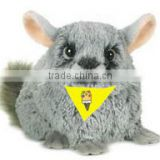 baby chinchilla mascot beanbag logo t-shirt bandana custom imprinted promotional plush stuffed soft bib tie ribbon animal toys