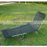 Outsunny Black Adjustable Folding Reclining Beach Sun Lounge Chair