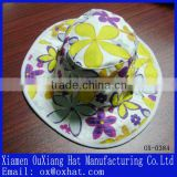 100% cotton printed flower custom bucket hats for sale