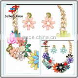 No.1 yiwu exporting commission agent wanted good quality fashion beautiful colorful bridal necklace set jewelery set