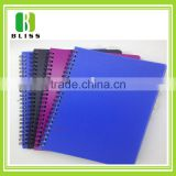 Hot sale stationary supplier Yellow Plastic clear cover notebook