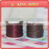 Cotton wax cord rope korea design wax cord waxed thread for leather craft repair