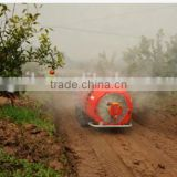 self propelled fruit garden orchard high press boom air blast sprayer vehicle 1000L tank with cabin and air conditioner