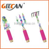 New design garden tool set kids garden tool set color floral garden tool