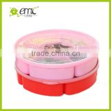 emc food storage boxes, food storage box with dividers, round shape plastic food storage box