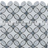 MM-CV274 Super quality wall natural stone flower carving pattern marble mosaics