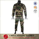 Durable Plain Cotton and Nylon French Woodland Camouflage BDU Uniform military