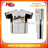 Hongen apparel 2015-2016 New Designs Blank Baseball Jerseys Wholesale Custom Full Dye Sublimation Baseball Jerseys