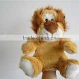 Wholesale puppet hand soft lion hand puppets family finger puppet
