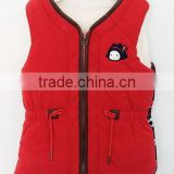 2016 baby girls red cute waistcoat for winter