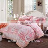 flannel bedding set 4pcs burnt-out flannel fleece