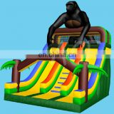 Europe standard INFLATABLE GORILLA SLIDE, Giant inflatable wet / dry slide for adult / kids from audiinflatables