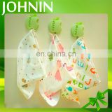 promotional organic muslin cotton custom soft cute triangle baby drool bib