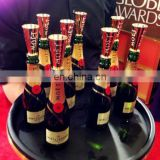 Golden mini Moet sipper champagne