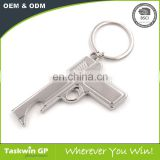 popular wholesale Custom gun shaped metal keychain for man