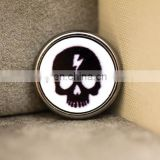 New 22mm printed bird skull charm gun black metal shank shirt apparel button decorative ornament accessories