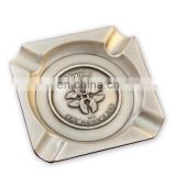 Custom square metal cigar ashtray with logo wholesale
