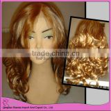Highlight brown color front lace wig fashion curly