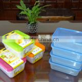 Supermarket set of 4 pcs rectangular plastic food storage container / food storage box 650ml