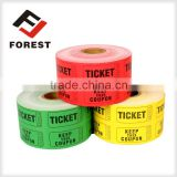 supplier raffle tickets, lottery tickets, arcade ticket roll printing                                                                         Quality Choice