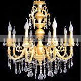 modern luxury 5 star hotel crystal chandelier with 8 lights /decorative heads crystal chandelier pendant light