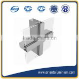 Aluminium Extruded Glass Wall System Profiles Aluminium Extrusion for Curtain Wall