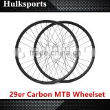 High end bicycle wheelset with disc hub mountain bike carbon wheels tubeless carbon 29er mtb wheels