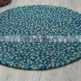Felt ball rug handmade in Nepal 100% pure New-Zealand wool rugs carpet
