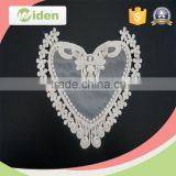 Garment accessories love heart pattern floral embroidery patch                                                                                                         Supplier's Choice