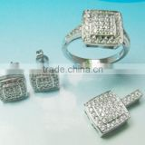 Sterling Silver Jewelry, Fashion Jewellery Wholesale PT90108 Stunning Cz Crystal 925 Sterling Silver Jewelry