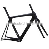 Carbon Road Bike Frame UD Aerodynamic Solid Frame with Carbon Rigid Fork