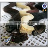 Wholesale top quality skin weft seamless hair extensions 100 human hair silky straight hair