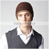 Casual Style Knitted Hat ,Winter Beanies Solid Color Hat ,Unisex Plain Warm Soft Hip Hop Cap 3 Colors