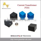 Current Transformer PT01 with high permeability core, excellent linearity, low profile, heavy resistor load