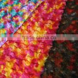 color rose swirl brushed pv plush fabric for winter boots/coats