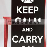 keep clam and carry on sign wooden wall hanging deco                                                                         Quality Choice