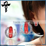 2014 new fashion glass crystal ladies stud designs latest design diamond earrings in zinc alloy jewelry E00040