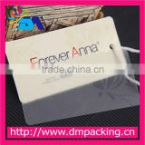 paper garment plastic hang tag with string