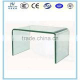 10mm Hot bending glass bent glass coffee table curved glass table