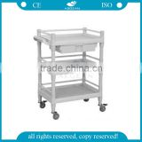 AG-UTB09 CE ISO mobile cleaning ABS plastic hospital medical trolley