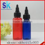 blue red twist off caps new designed pen shape unicorn bottle 30ml 60ml120ml pet bottles plastic bottle twist top cap
