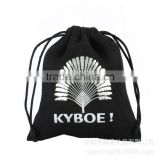 China Black large dust velvet bags wholesale in sliver logo                                                                         Quality Choice