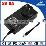 LED/ CCTV power supply 5V 6A AC power adapter charger for philips shaver