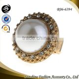 2014 Chinese cheap jewelry latest design big stone gold rings gold mens rings with stones