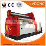 W11S asymmetrical 3 roller bending machine hydraulic sheet metal rolling and bending machine