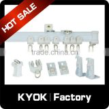 Wholesale curtain rail accessories , curtain rail bracket / ball-bearing / tacks ,curtain rail whole set , factory direct sell !