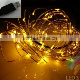10M 100L copper wire string fairy light with USB connector plus EU adapter for wedding party and christmas