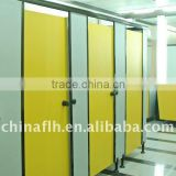 Durable public bath toilet cubicle with nylon accessory